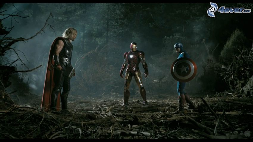 The Avengers, Thor, Iron Man, Captain America
