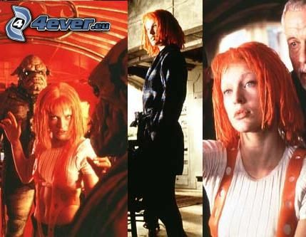 The Fifth Element, Milla Jovovich, actress, movie