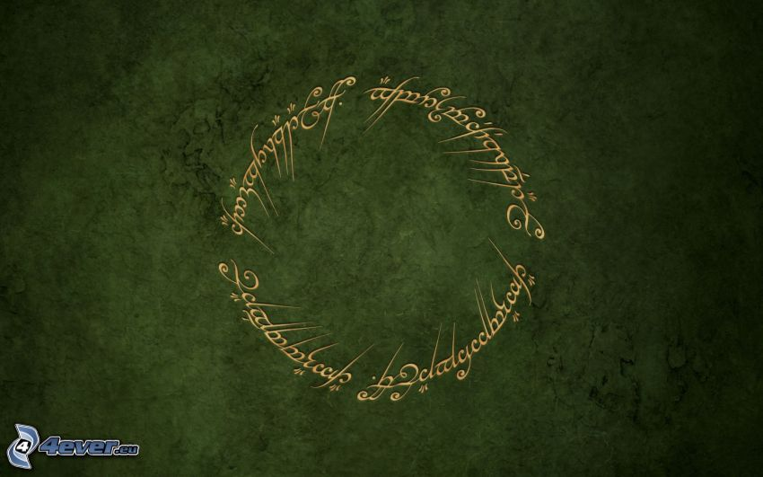 The Lord of the Rings, green background, text
