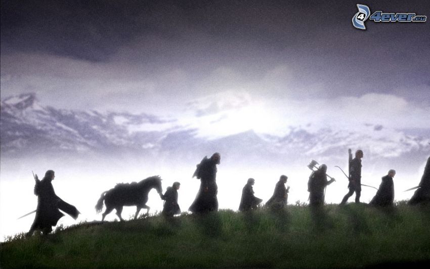 The Lord of the Rings, silhouettes of people