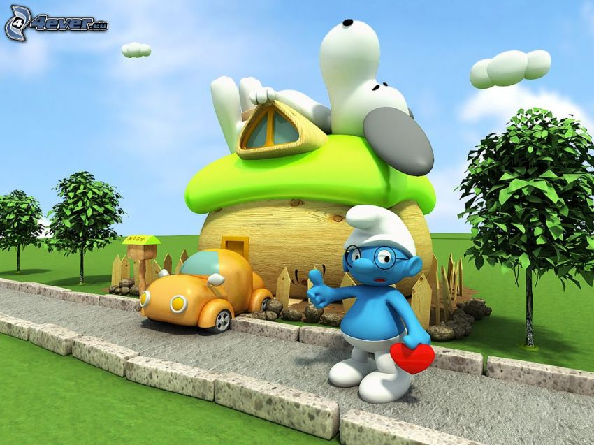 The Smurfs, road, house