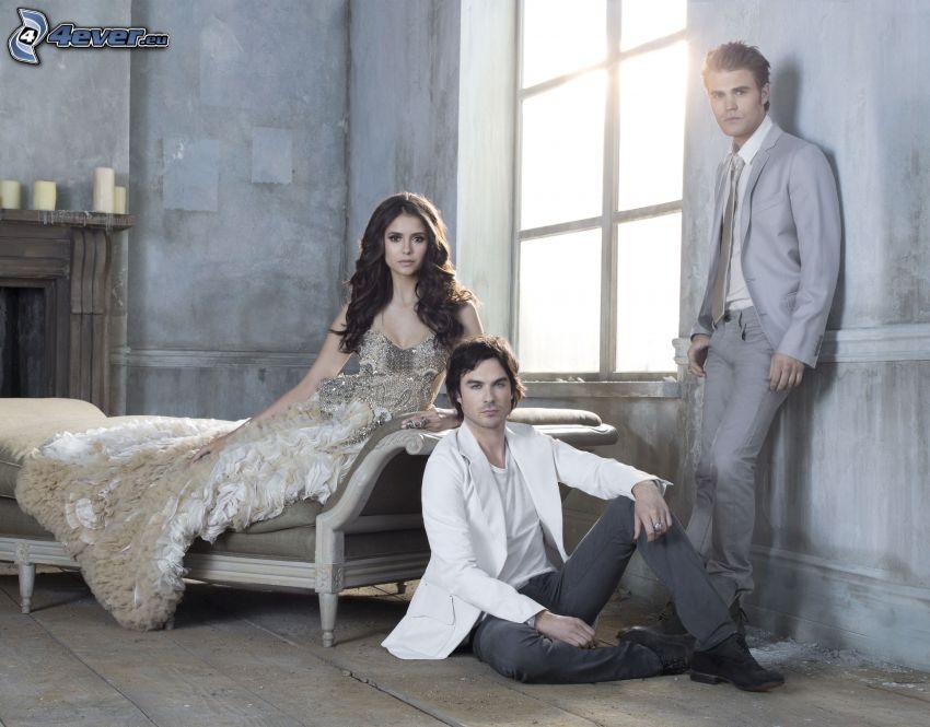 The Vampire Diaries, Nina Dobrev, Ian Somerhalder, Paul Wesley