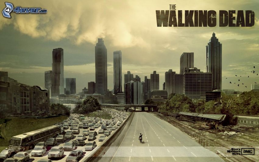 The Walking Dead, highway, traffic jam