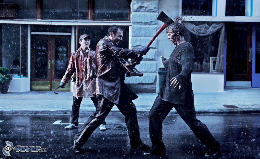 The Walking Dead, rain, murder