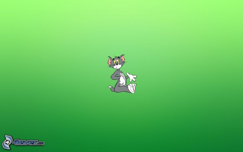 Tom and Jerry, green background