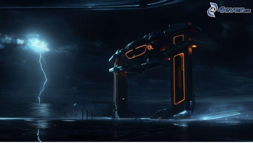 Tron: Legacy, lightning