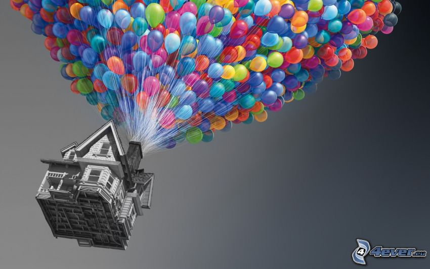 Up, balloons