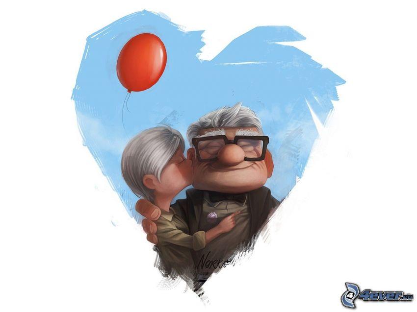 Up, kiss, heart