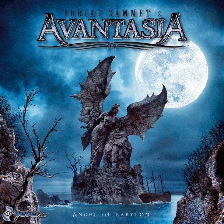 Avantasia, Angel of Babylon, statue, woman with wings