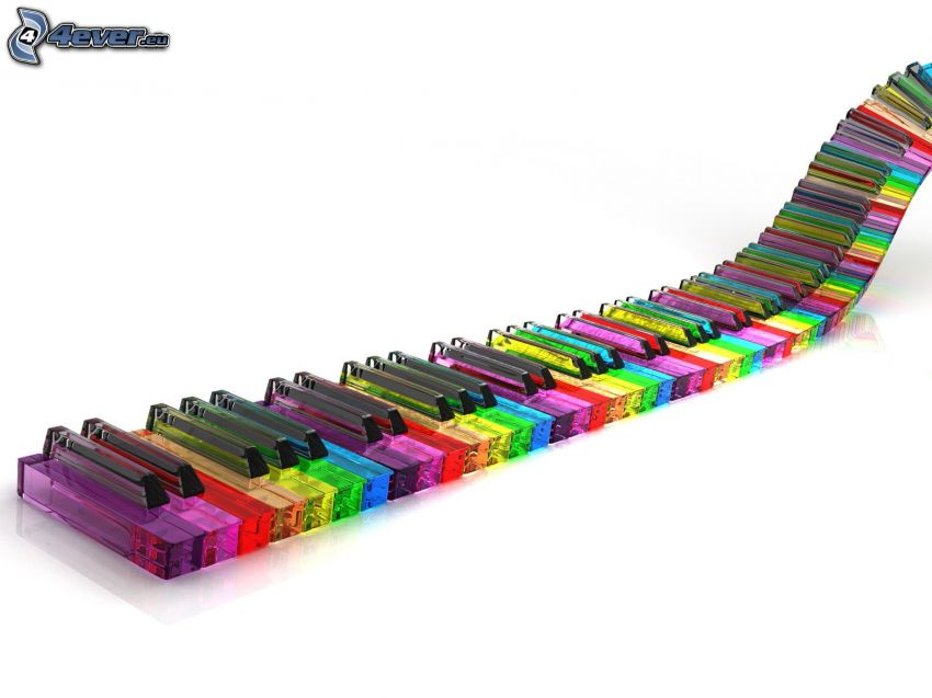 colored piano