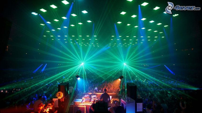 concert, disco, DJ, megapárty, lights