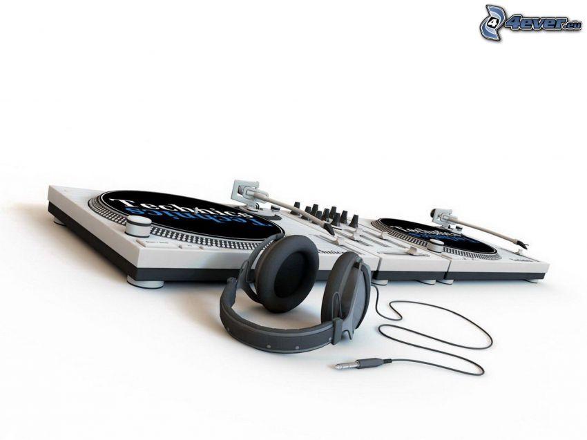 DJ Mixer, headphones
