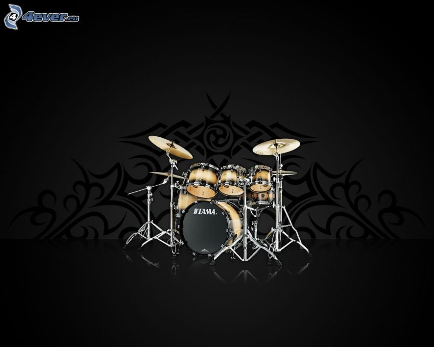 Drums, gray background