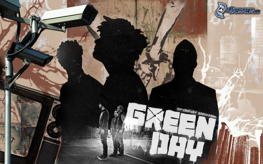 Green Day, silhouettes of people
