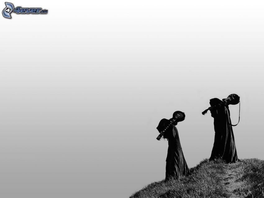 grim reapers, electric guitars