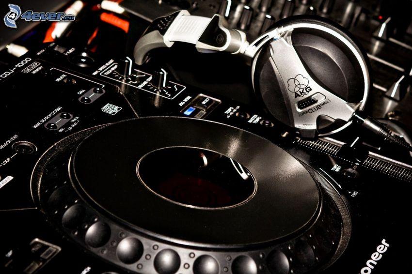 headphones, DJ Mixer