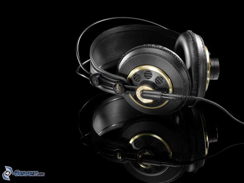headphones, reflection