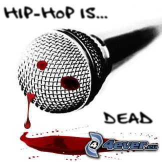 hiphop is dead, microphone, blood
