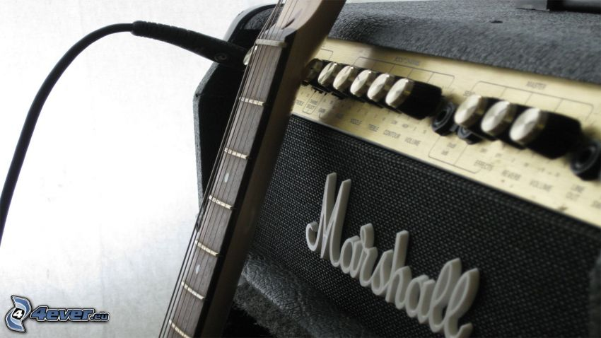 Marshall, guitar amplifier, guitar