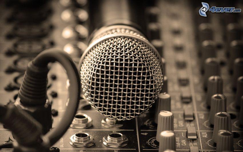 microphone, DJ Mixer
