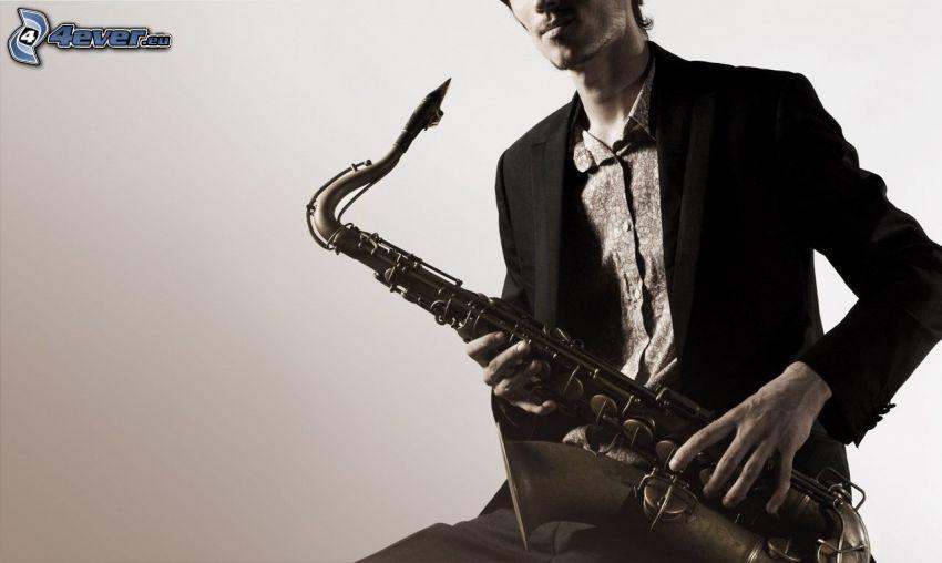 saxophonist, saxophone