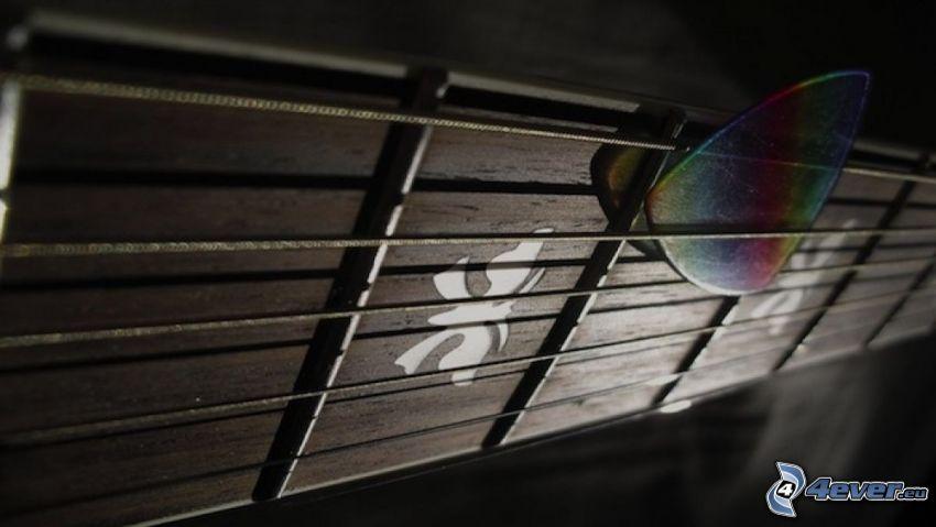 strings, guitar, picks