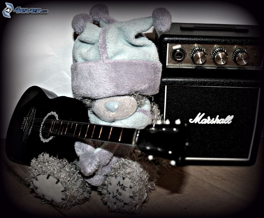 teddy bear, guitar, Marshall, hat, Me to You