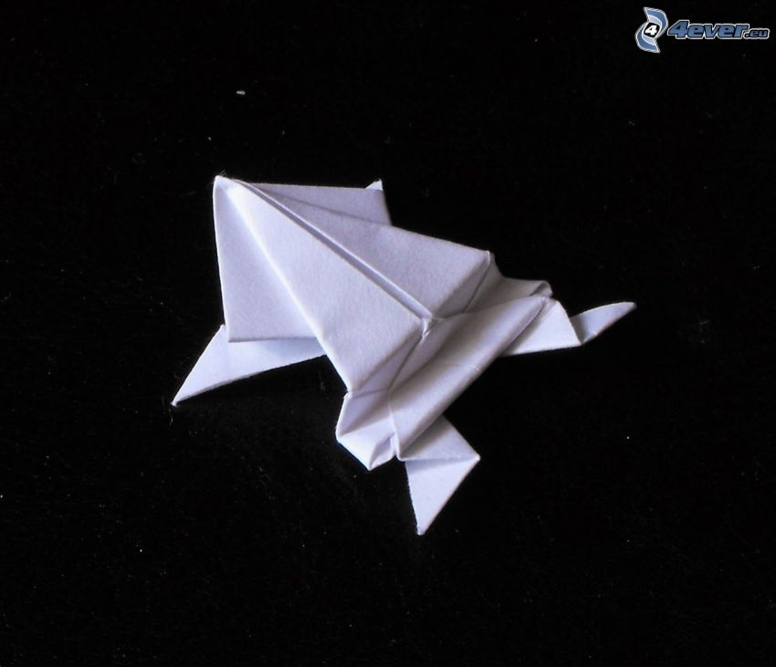 origami, frog