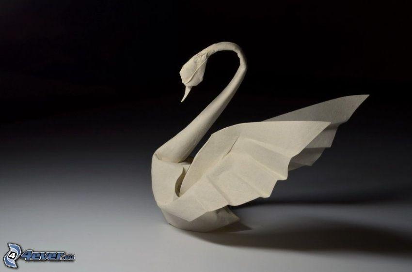 swan, origami