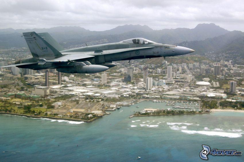 CF-188 Hornet, coastal city