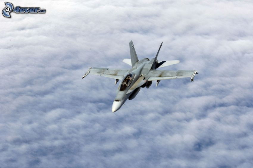 CF-188 Hornet, over the clouds