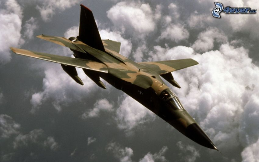 F-111 Aardvark, over the clouds