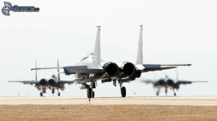 F-15 Eagle, airport, jet engines