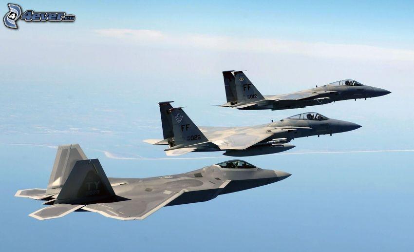 F-22 Raptor, F-15 Eagle