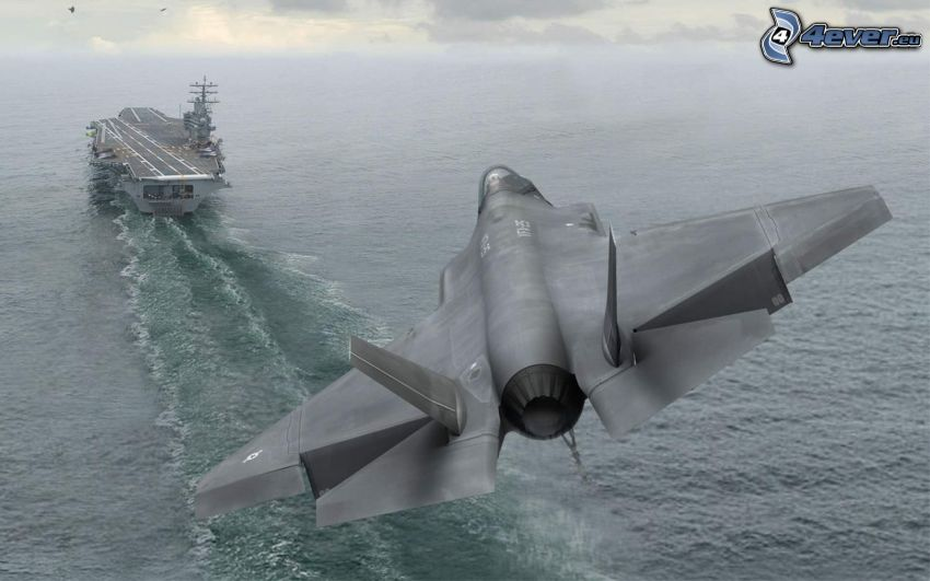 F-35 Lightning II, aircraft carrier, sea