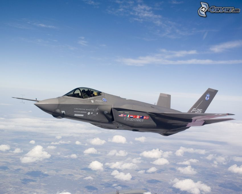 F-35 Lightning II, over the clouds