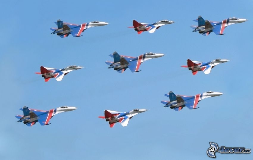Fleet of F-15 Eagle