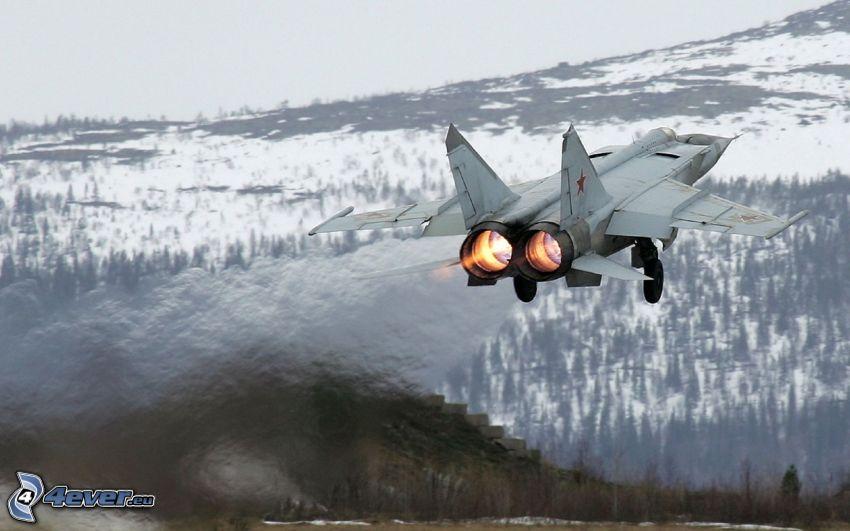 MiG-25, mountains