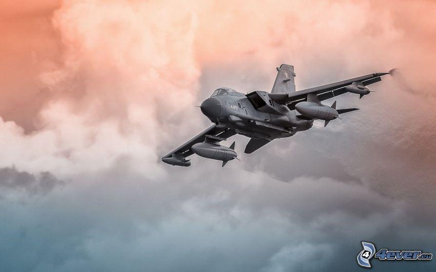 Panavia Tornado GR4, clouds