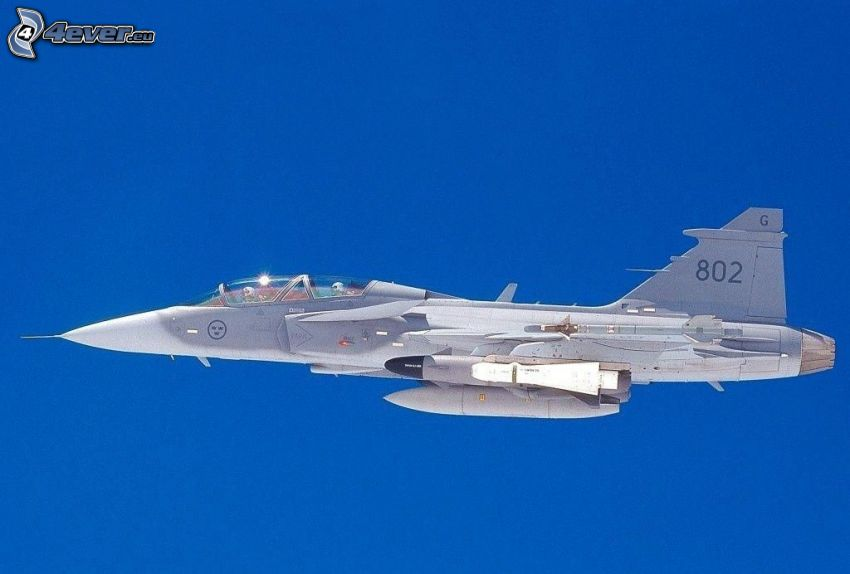 Saab JAS 39 Gripen, blue sky