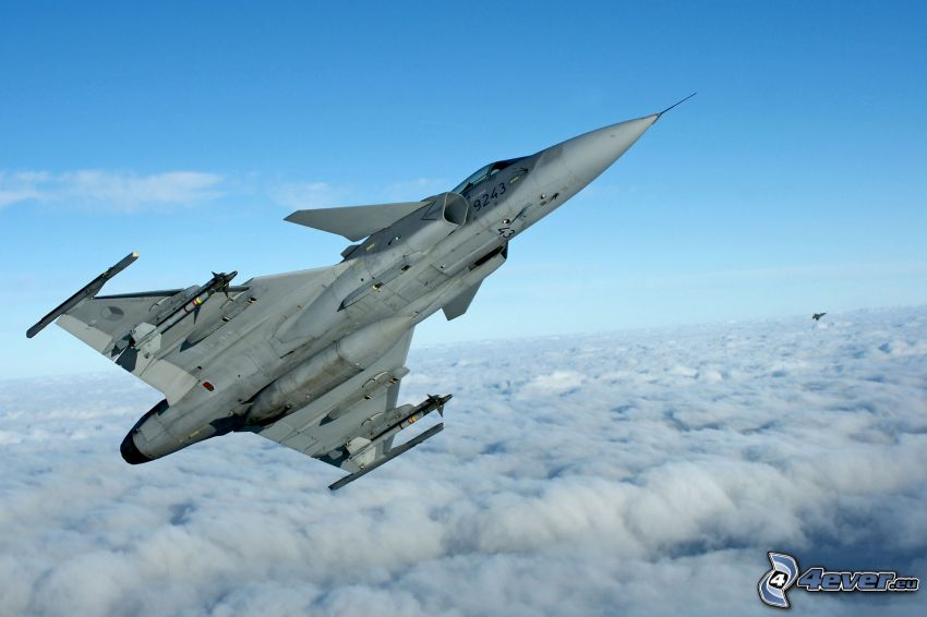 Saab JAS 39 Gripen, over the clouds