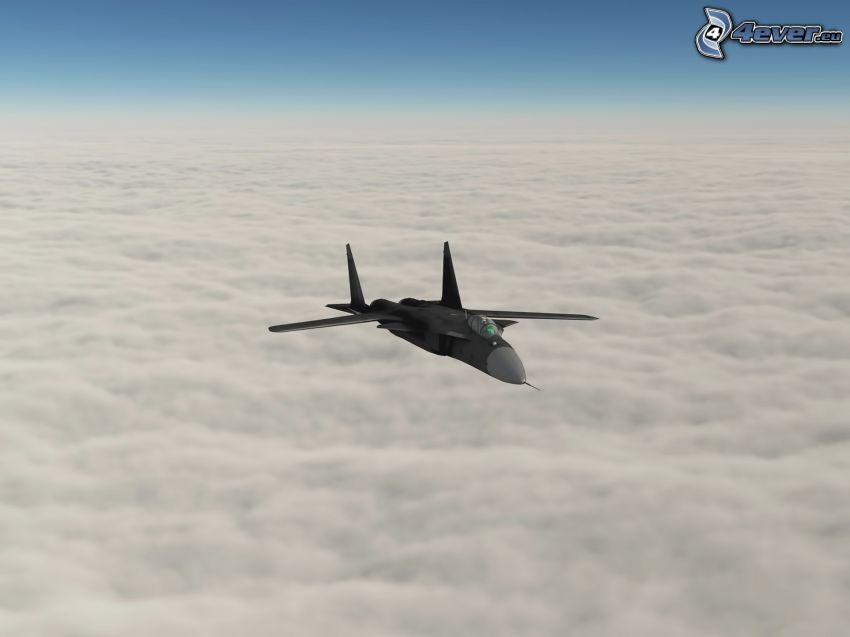 Sukhoi Su-24, over the clouds