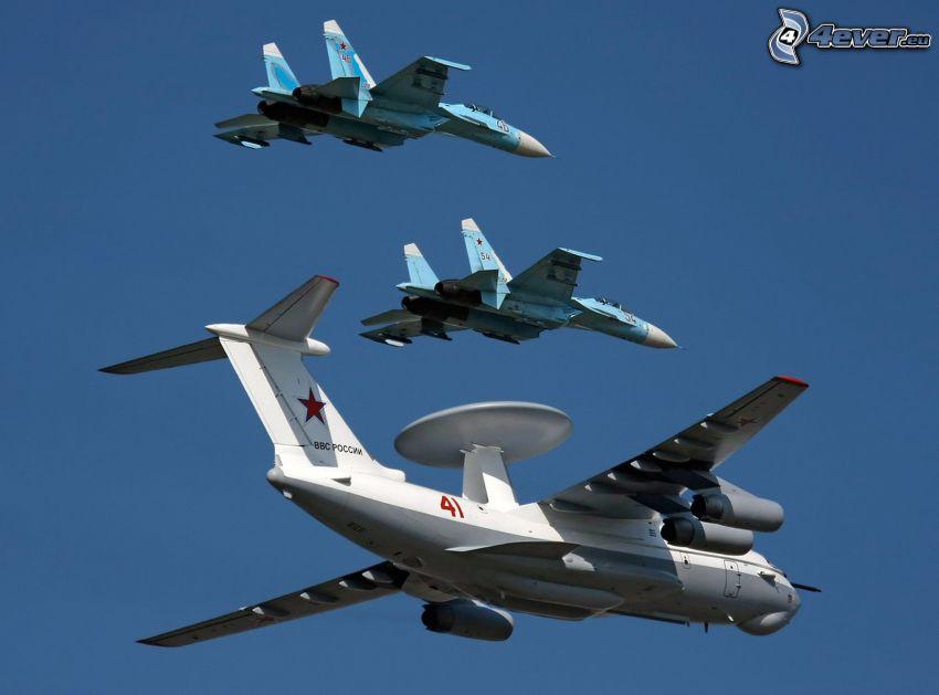 Sukhoi Su-27, fighters, aircraft