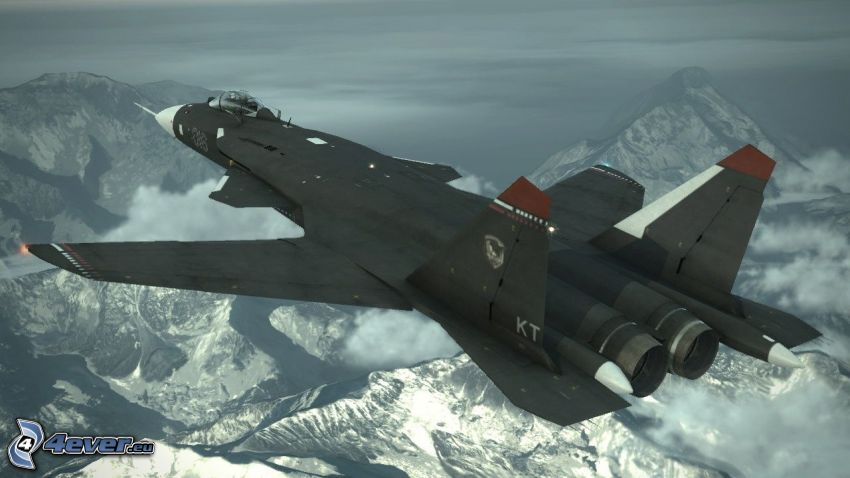 Sukhoi Su-47, snowy mountains