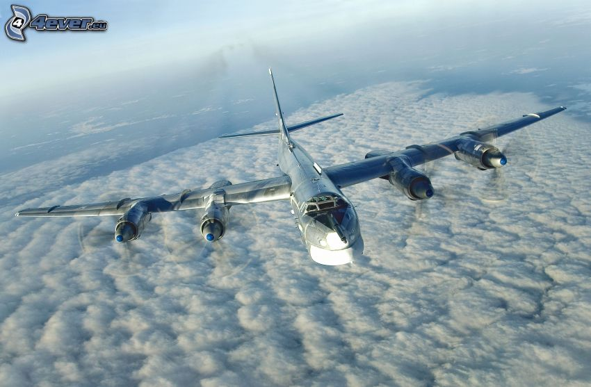 Tupolev Tu-22, over the clouds