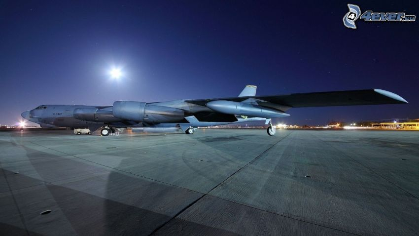 aircraft, airport, night
