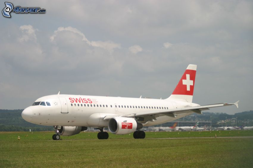 aircraft, swiss, airport