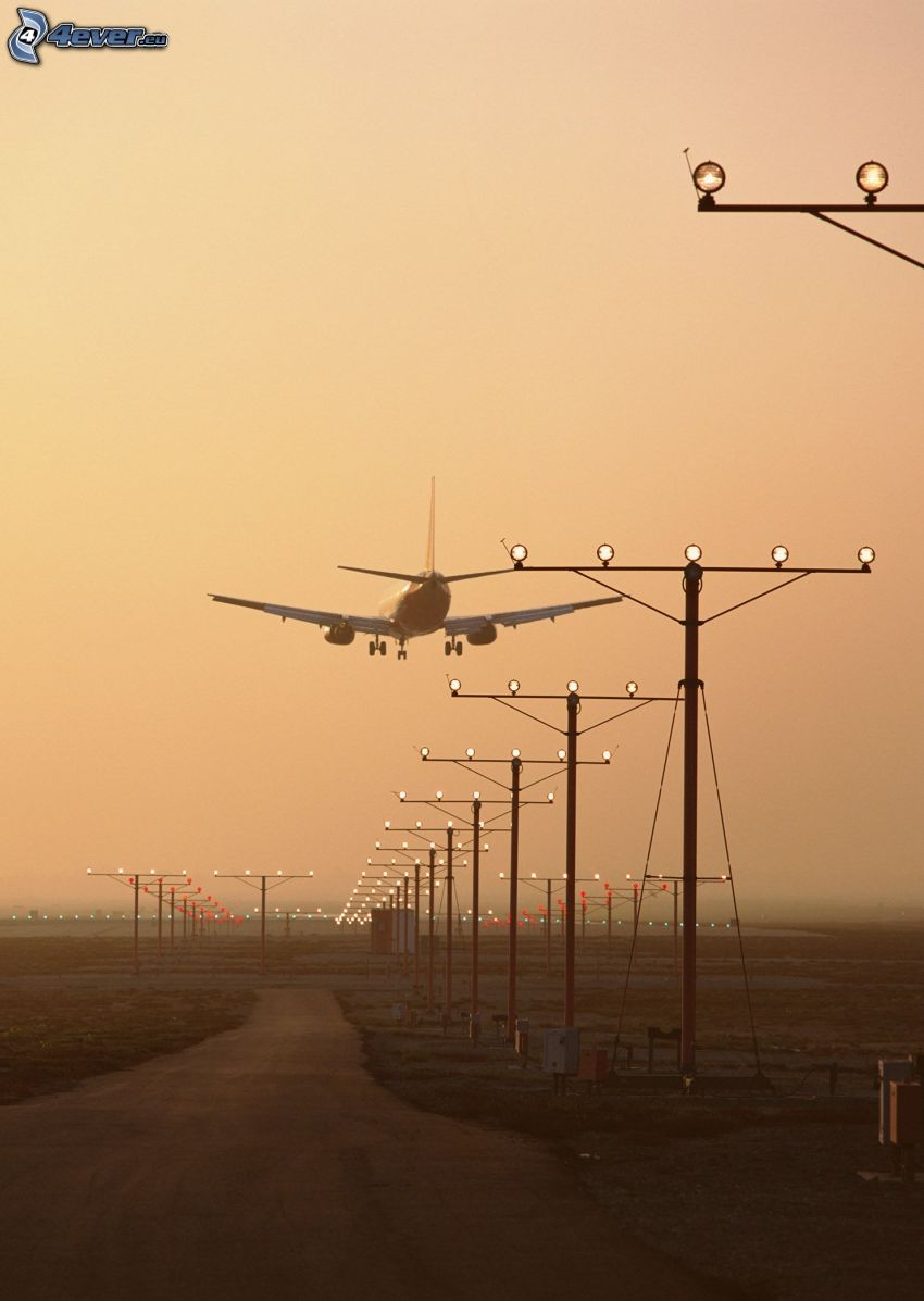 Boeing 757, landing, airport