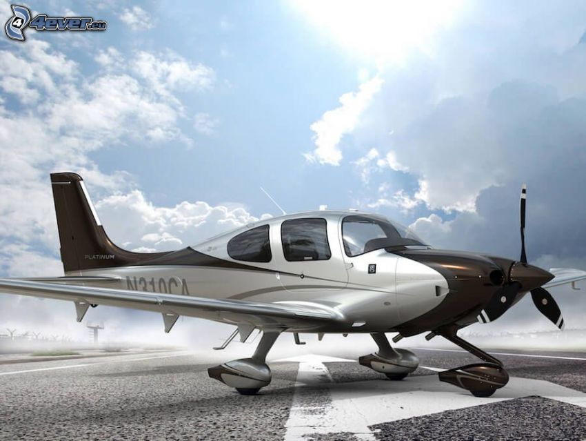 Cirrus SR22, clouds
