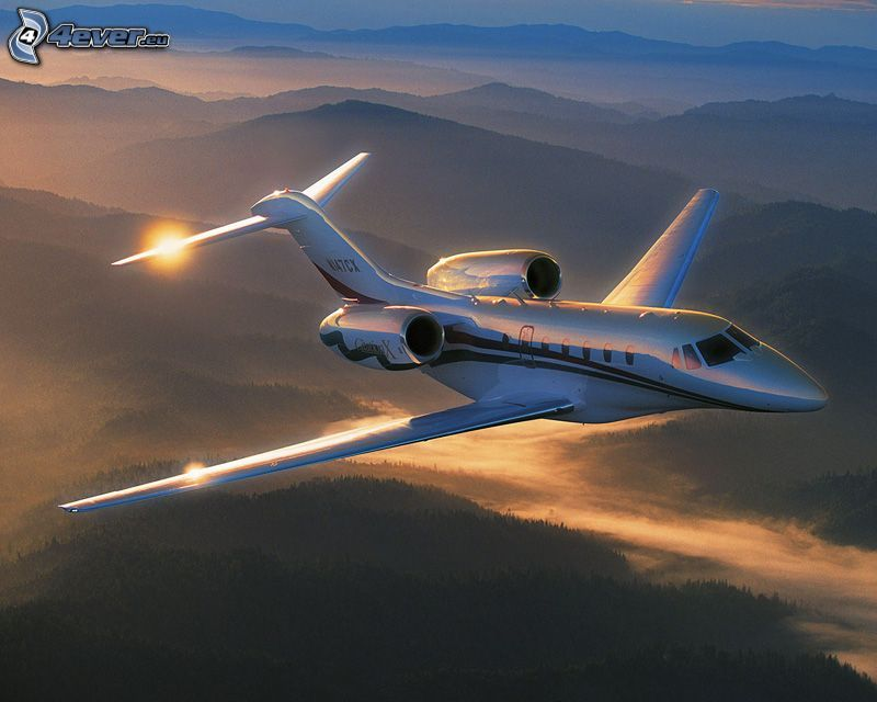 Citation X - Cessna, mountains